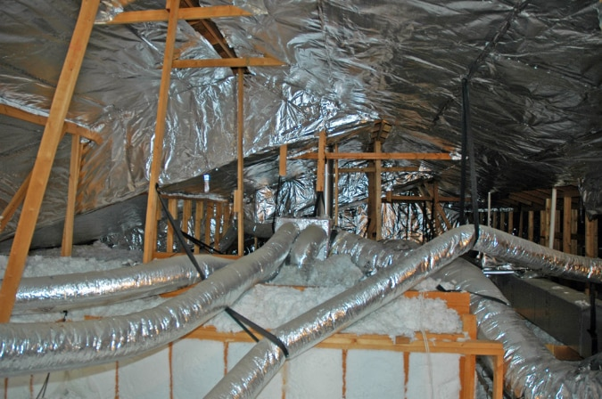 Temperatures vary from lows in the does radiant barrier work : radiant attic barrier  - Aeropaca.Org